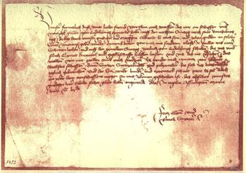 Chronik - 1452-Ladebrief-
