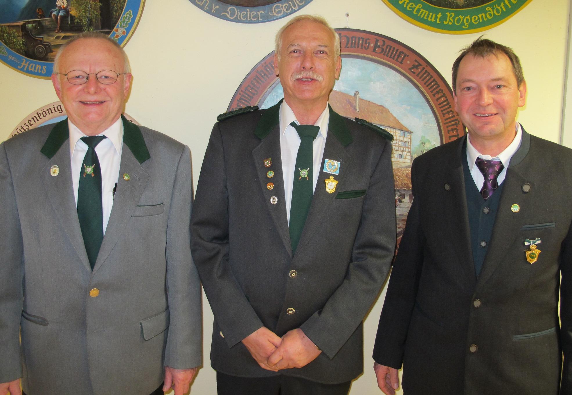 Gerhard Hollweck, Herbert Spiegel und Peter Schöner